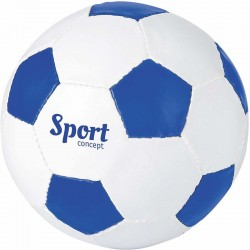 BALLON DE FOOT BLANC/BLEU ROYAL SANS MARQUAGE