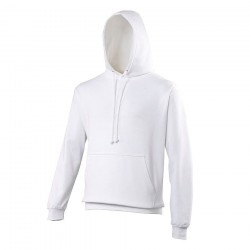 SWEAT-SHIRT A CAPUCHE COLLEGE BLANC XS A 2XL