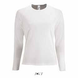 Tee-shirt respirant manches longues femme 140 g couleur